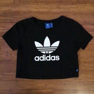 Black cropped Adidas T-shirt